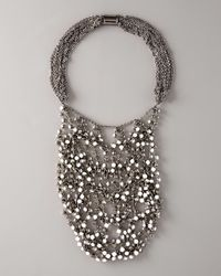 Vera Wang | Wrapped Rhinestone Necklace, White | Lyst