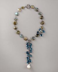Wendy Brigode | Blue Labradorite & Topaz Necklace | Lyst