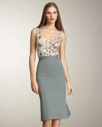 Zac Posen | Blue Pleated Faille Skirt | Lyst