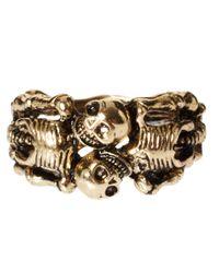 Love - Metallic Asos Lovers Skeleton Ring - Lyst