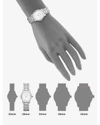 Burberry | Check Stamped Round Stainless Steel Watch/Silvertone | Lyst