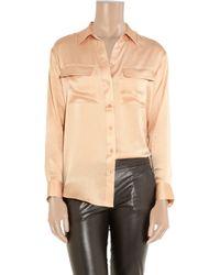 Equipment   Pink Signature Silk-satin Shirt   Lyst