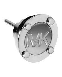 Michael Kors | Metallic Astor Stud Logo Earrings | Lyst