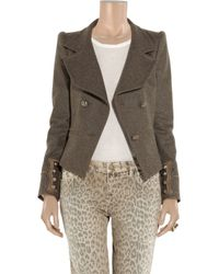 Roberto Cavalli - Brown Double-breasted Military Jacket - Lyst