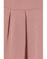 Vanessa Bruno - Pink Pleated Crepe Dress - Lyst