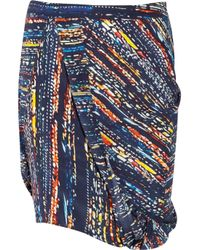 Zero + Maria Cornejo | Blue Cruza Printed Stretch Silk Skirt | Lyst