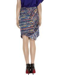 Zero + Maria Cornejo - Blue Cruza Printed Stretch Silk Skirt - Lyst
