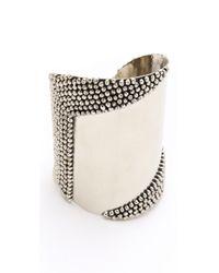 Anndra Neen - Metallic Mirror Pin Cuff - Lyst