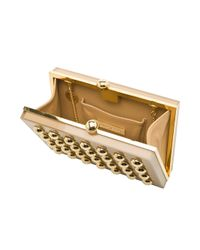 Elie Saab | Square Clutch with Gold Studs | Lyst