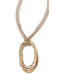 Citrine by the Stones | Metallic Large Wire Pendant Necklace | Lyst