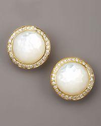 Ippolita - Metallic Mother-Of-Pearl Diamond Earrings - Lyst