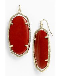 Kendra Scott | Metallic Danielle Earrings Red Magnesite | Lyst