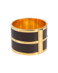 Marc By Marc Jacobs | Metallic Concrete Jungle Leather Bangle | Lyst