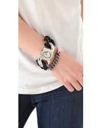 Marc By Marc Jacobs | Metallic Sporty Turnlock Bracelet | Lyst