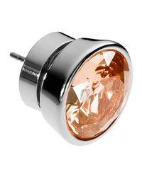 Michael Kors - Metallic Large Silvercolor Stud Earrings Silk - Lyst