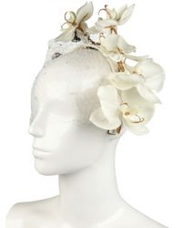 Piers Atkinson | White Orchid and Wasp On Leather Band Hat | Lyst