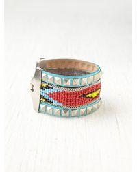 Free People - Metallic Beaded Friendship Bracelet - Lyst