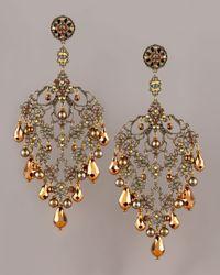 Jose & Maria Barrera - Metallic Brass Copper Chandelier Earrings - Lyst