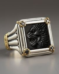 Konstantino | Black Diamond Paganini Lion Ring for Men | Lyst
