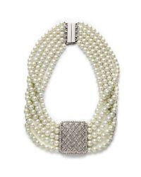 Lauren by Ralph Lauren - Metallic High Society Five Row Basket Weave Necklace - Lyst