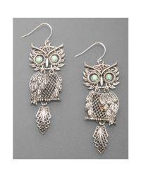 Lucky Brand | Gray Silvertone Shaky Owl | Lyst