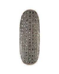 Lucky Brand | Metallic Silver Tone Czech Glass Knuckle Ring | Lyst