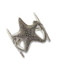 Lucky Brand | Metallic Silver Tone Starfish Cuff Bracelet | Lyst