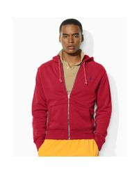 Ralph Lauren | Red Fleece Hoodie for Men | Lyst