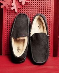 Ugg | Gray Ugg Ascot Suede Slipper for Men | Lyst
