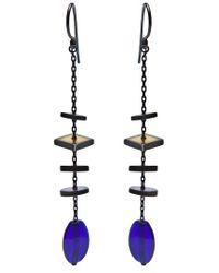 Bottega Veneta - Blue Drop Earrings - Lyst