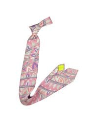 Emilio Pucci - Pink Abstract Design Silk Tie for Men - Lyst
