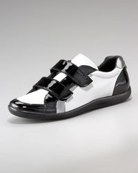 Prada | White Grip-strap Sneaker for Men | Lyst