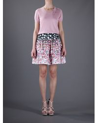Red Valentino | Black Floral Skirt | Lyst