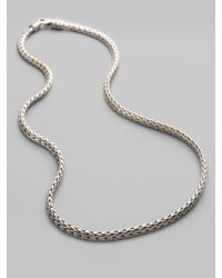 John Hardy | Metallic Classic Chain Sterling Silver Extra-small Necklace/18 | Lyst