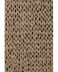 Kelly Bergin - Metallic Open-knit Sweater - Lyst