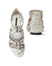 Rachel Zoe - Multicolor Gretta Embossed Flat Sandal - Lyst