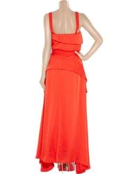 By Malene Birger - Red Satin and Crepe Gown - Lyst