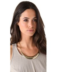 Low Luv by Erin Wasson - Metallic Crescent Collar Necklace - Lyst