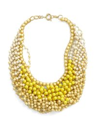 ModCloth - Yellow Statement Of The Art Necklace in Sun - Lyst