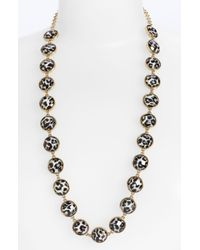 kate spade new york | Black Show Your Spots Long Necklace | Lyst