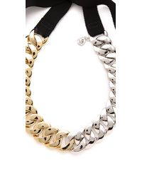 Marc By Marc Jacobs - Metallic Pretty Turnlock Necklace - Lyst