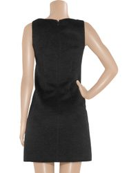 Michael Kors - Black Wool and Angora-blend Shift Dress - Lyst