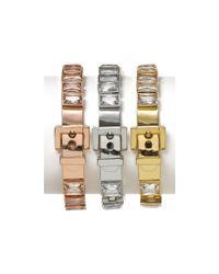 Michael Kors - Metallic Michael Rose Gold Tennis Bracelet - Lyst