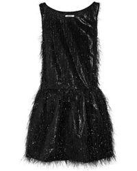 Boutique Moschino | Black Tinsel-effect Lamé Dress | Lyst