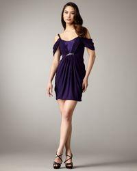 Hoaglund New York | Blue Off-the-shoulder Grecian Dress | Lyst