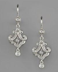 Penny Preville | Metallic Petite Lace Diamond Dangle Earrings | Lyst