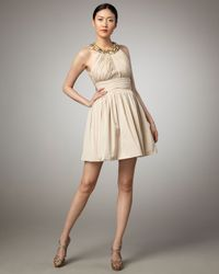 Robert Rodriguez | Natural Mackenzie Gathered Dress | Lyst