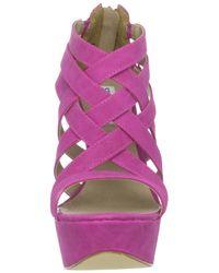 Steve Madden | Purple Xcess Platform Wedge Sandals | Lyst
