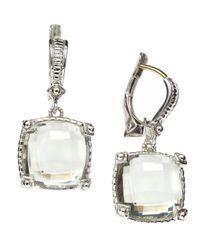 Judith Ripka - Green Quartz Dangle Earrings - Lyst