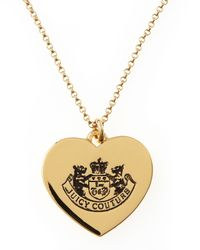 Juicy Couture | Metallic Lighten Up Pendant Necklace | Lyst